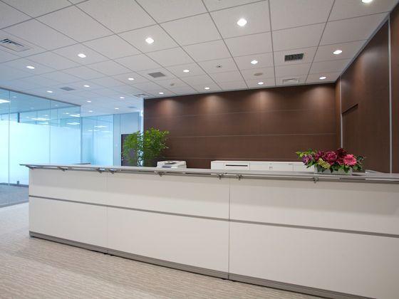 Tokyo Electron Device LTD./【Executive area】Reception for executives at the entrance to the executive area.