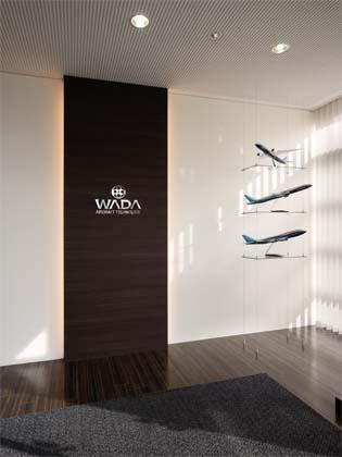 Wada Aircraft Technology Co., Ltd./【Entrance area】Entrance area expresses the company's progressiveness.