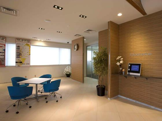COSMO SYSTEM, inc/【Rest area】Unattended reception area uses a touch-panel.