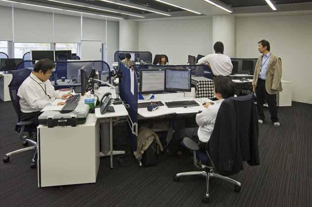 IT services company/【Office space】An environment in which the actions of a variety of people are visible due to the random desk layout