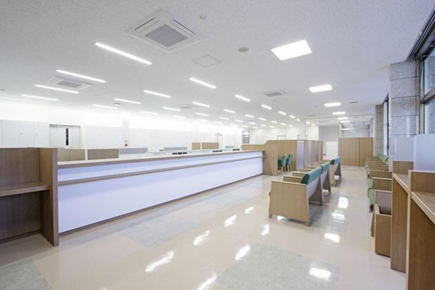 Shimizu Agricultural Cooperative/【Finance counter】Uses an interior image that is acceptable to people of all generations