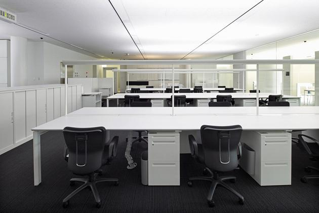 JA Tokyo Musashi/【Office area】High-color-temperature bright white lighting used from morning until noon