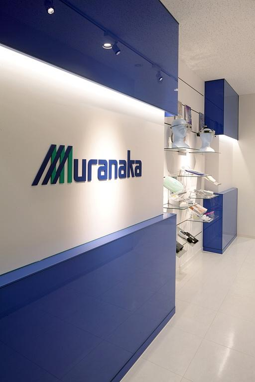 Muranaka Medical Instruments Co., Ltd./【Showroom space 1】Wall display space at the entrance to the 2F showroom.